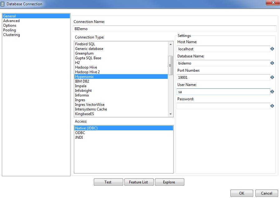 Create Database Connection - CUBA Platform  BI Tools Integration