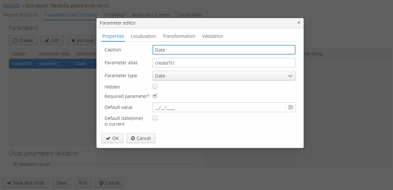 CUBA Platform  Report Generator